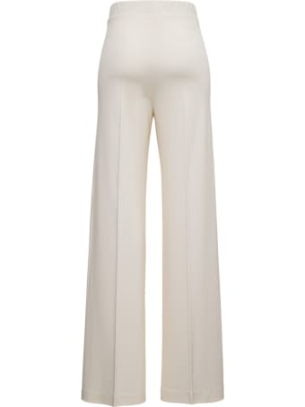 Jil Sander Wide Pants In White Viscose