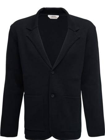 Z Zegna Single-breasted Blue Jacket