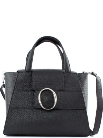 Orciani Ofelia Soft Black Leather Handbag