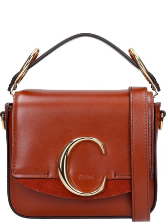 Chloé Mini Chloe C Hand Bag In Leather Color Leather