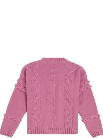Il Gufo Pink Woven Wool Sweater