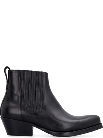 Our Legacy Leather Cuban Boot