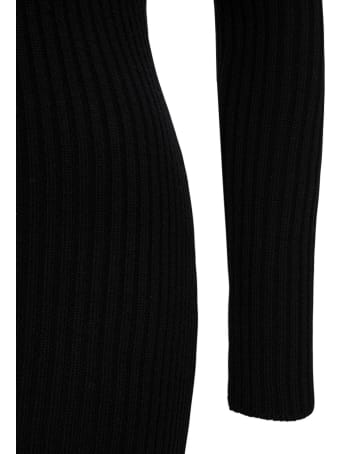 Giuseppe di Morabito Ribbed Knit Dress With Chain Shoulder Straps