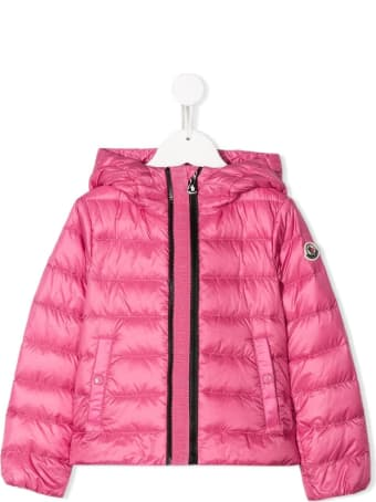 Moncler Glycine Down Jacket In Pink Nylon