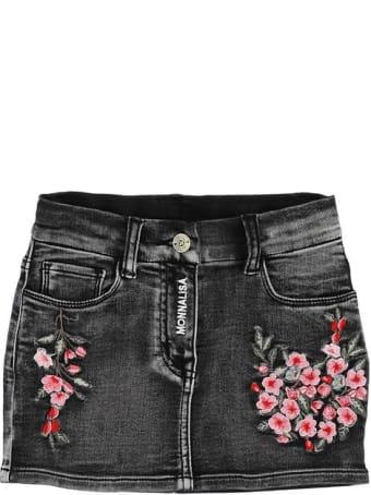 Monnalisa Skirt With Tulle