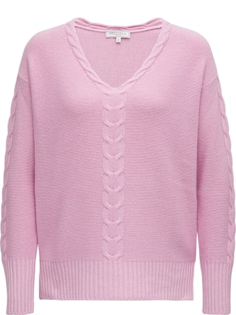 Antonelli Pink Wool Blend Sweater With Braided Front Detail