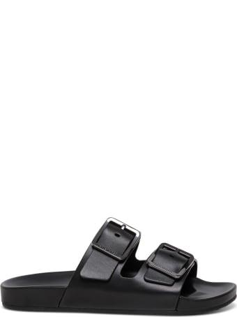 Balenciaga Mallorca Black Leather Sandals