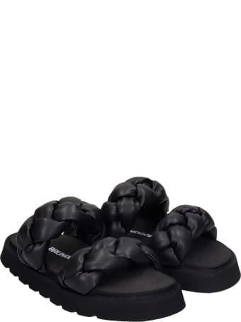 Bruno Bordese Iris Flats In Black Leather