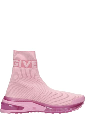 Givenchy Giv 1 Sneakers In Rose-pink Polyester