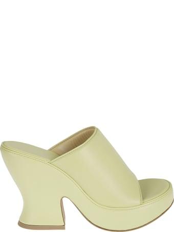 Bottega Veneta Lagoon Nappa Wedge Sandals