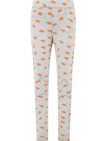 efvva Grey Sweatpant For Kids With Bats
