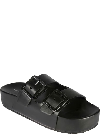 Balenciaga Double-strap Side Buckled Sandals