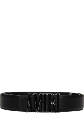 AMIRI Belts In Black Leather
