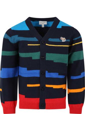 Paul Smith Junior Multicolor Cardigan For Boy