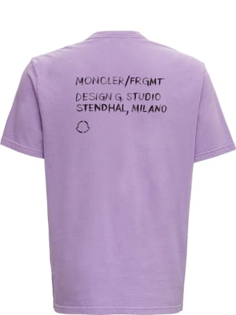 Moncler Genius Purple Tee With Embroidered Logos