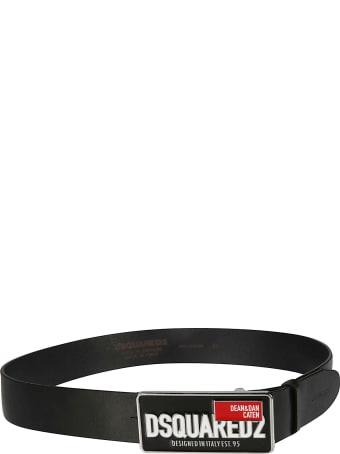 Dsquared2 D&d Plaque Logo Belt