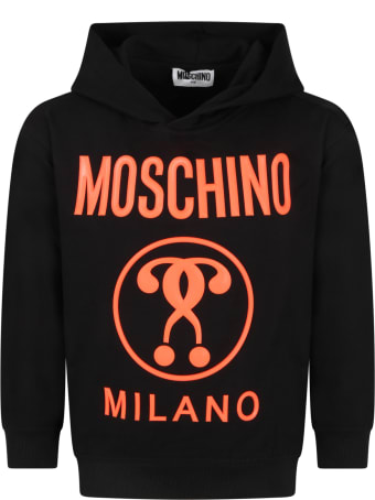 Moschino Black Tracksuit For Kids With Logo