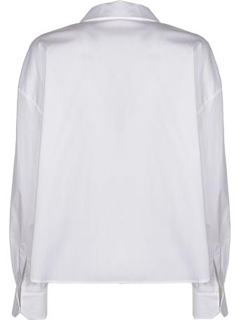 A.W.A.K.E. Mode Cropped Belted Wrap Shirt