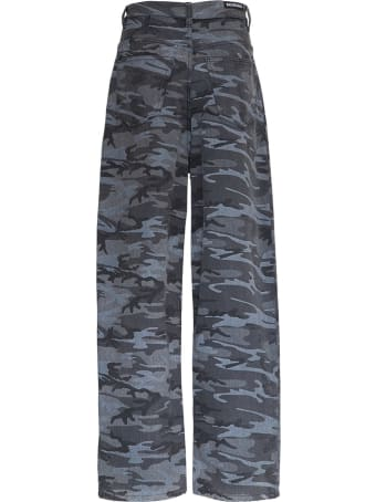 Balenciaga Wide Leg Camouflage Jeans
