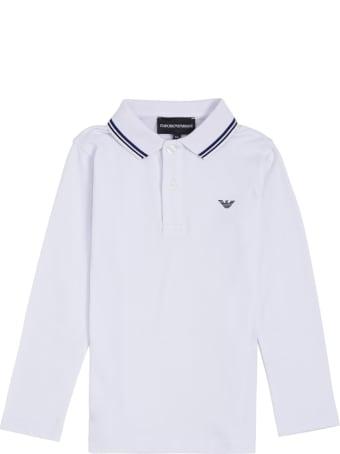 Emporio Armani White Cotton Polo Shirt With Logo