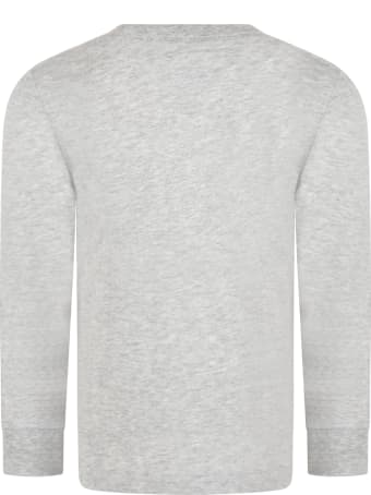 Levi's Grey T-shirt For Kids With Logo