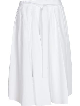 Prada Tie-waist Pleated Skirt