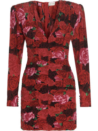 Magda Butrym Printed Rose Dress