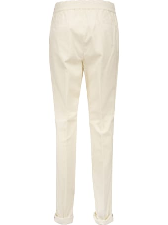 Brunello Cucinelli Velvet Trousers With Drawstrings
