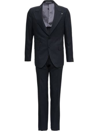 Gabriele Pasini Anthracite Gray Wool Tailored Suit