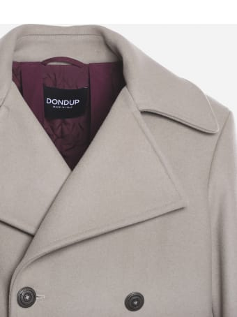 Dondup Double-breasted Wool Coat With Patch Detail