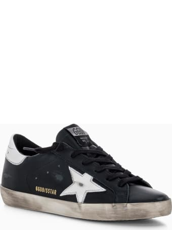 Golden Goose Star Super-star Sneakers In Suede With White Heel Tab