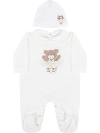 La Perla Ivory Set For Baby Girl With Bear