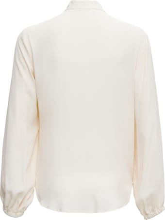 Merci White Shirt With Mandarin Collar