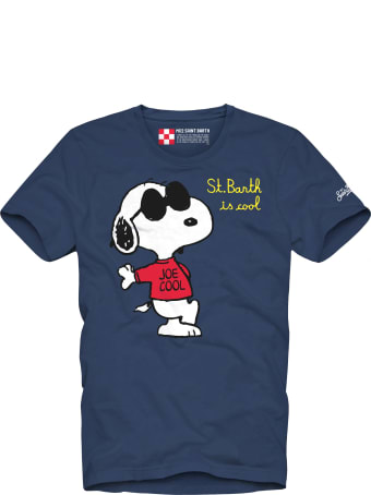 MC2 Saint Barth Snoopy  With Embroidery Boy's T-shirt