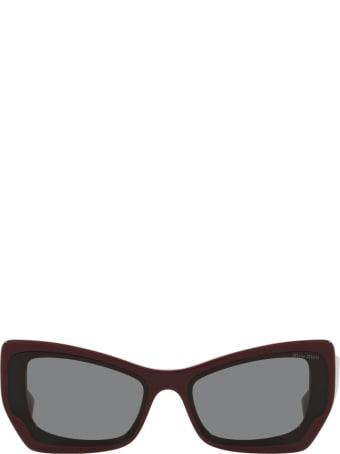 Miu Miu Miu Miu Mu 07xs Pink Bordeaux Sunglasses