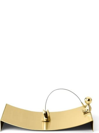 Ghidini 1961 Omini - The Fisherman Napkins Tray Polished Brass