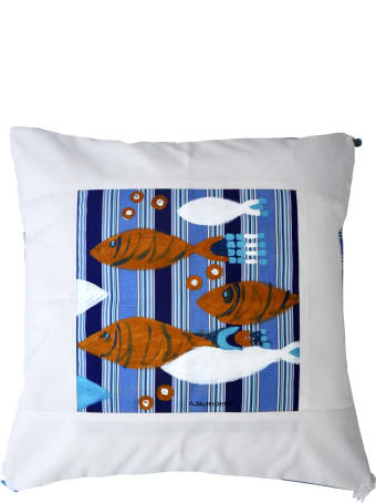 Le Botteghe su Gologone Cotton Hand Painted Indoor Cushion 60x60 cm