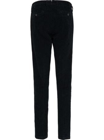 Lardini Black Velvet Tailored Trousers