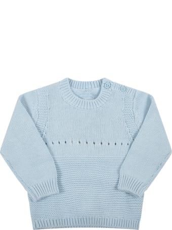 Stella McCartney Kids Light Blue Sweater For Baby Boy With Dog