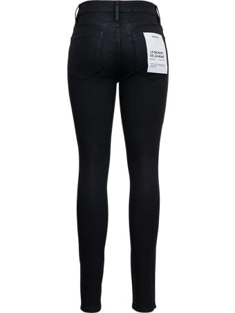 Frame Black Coated Denim Skinny Jeans