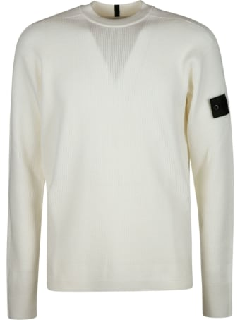 Stone Island Shadow Project Logo Patched Knit Sweater