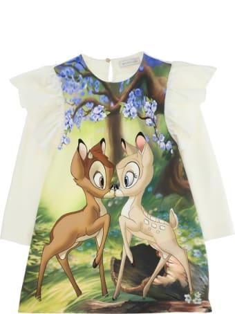 Monnalisa Viscose Blend Dress With Bamby Print