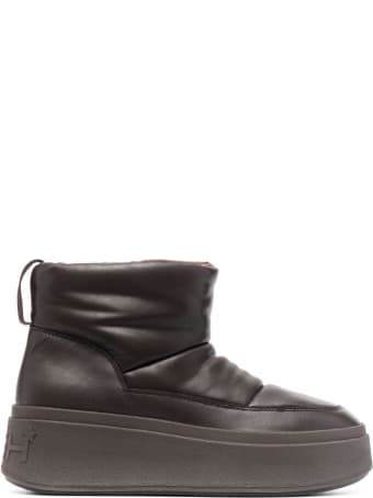Ash Maxi Bis Leather Puffer Sneakers