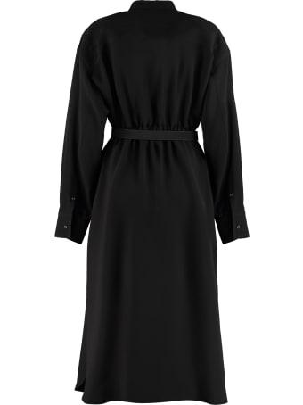 Fendi Belted Silk Dress