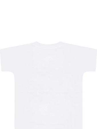 Dolce & Gabbana White T-shirt For Babykids With Crown
