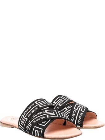 Elisabetta Franchi La Mia Bambina Black Sandals