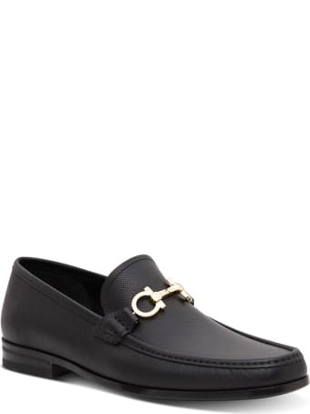 Salvatore Ferragamo Chris Mocassins In Black Leather