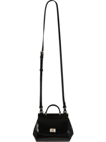 Dolce & Gabbana Black Bag For Girl With Logo