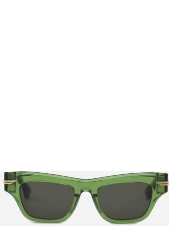 Bottega Veneta Semi-transparent Acetate Sunglasses