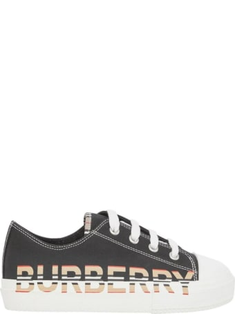 Burberry Larkhall Cotton Sneakers With Logo Print